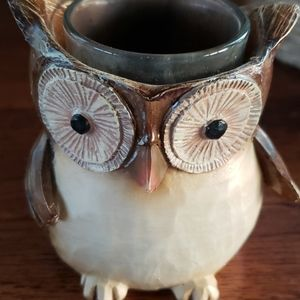 Owl votive holder